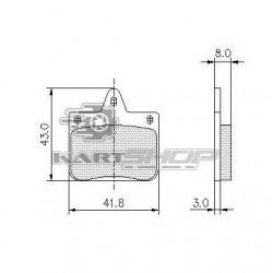 Plaquettes de frein AV CRG VEN 04 adaptable