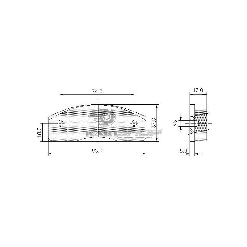 plaquettes de frein ar pcr ancien mod le kartshopfrance site officiel pi ces et accessoires. Black Bedroom Furniture Sets. Home Design Ideas