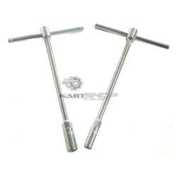 Clé en T de roue à béquille 10 ou 13 mm