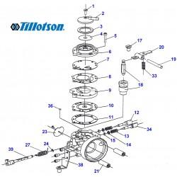 Eclaté carburateur TILLOTSON HL 304