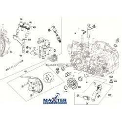 Eclaté sortie boite de vitesses MAXTER MXO/MXS