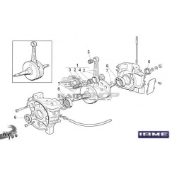 Eclaté bas moteur IAME KFS 100