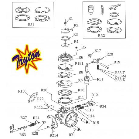 Eclaté carburateur TRYTON X30