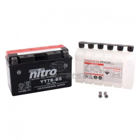Batterie NITRO YT7B-BS acide séparé