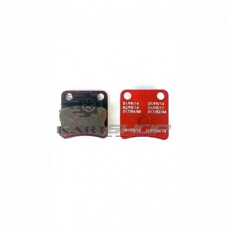Plaquette de frein PAROLIN Mini - rouge
