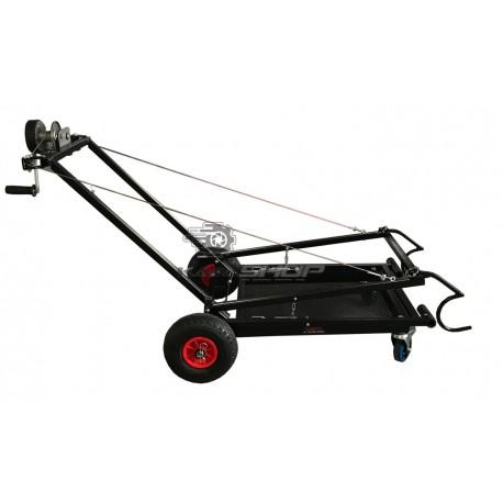 Chariot lève kart  à treuil manuel DALMI 2 petites roues