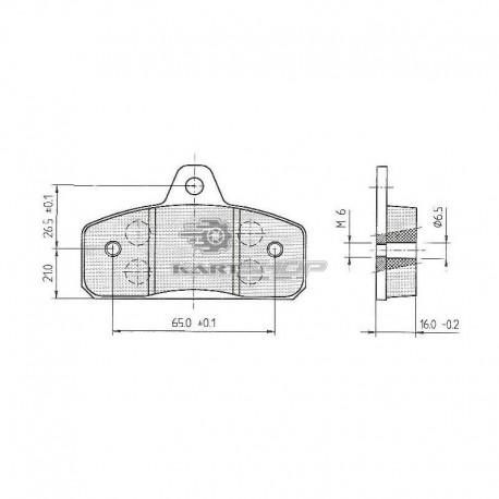Plaquettes de frein AR BIREL ancien modèle
