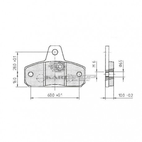 Plaquettes de frein AV BIREL ancien modèle
