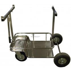 """Chariot """"pro"""" chromé de transport de kart"""